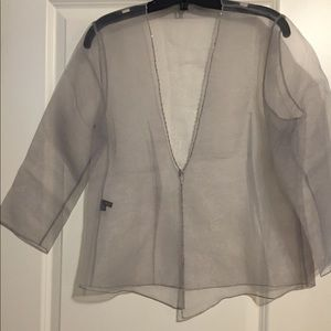 Tops - Sheer cover up blouse